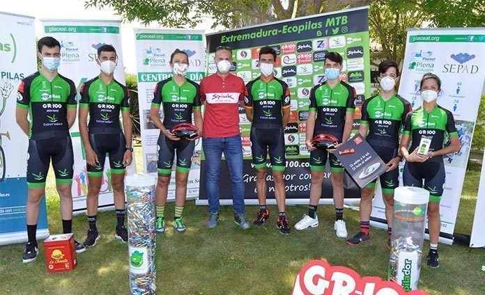 La ciclista montijana Tamara Sánchez participa en el reto del Extremadura-Ecopilas MTB, La Vía de la Plata extremeña