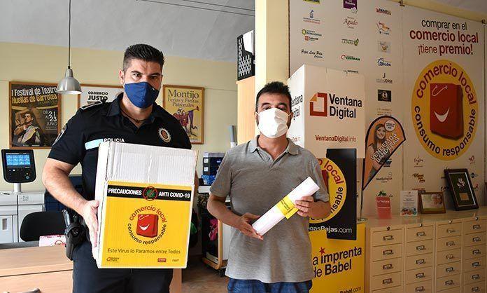 Ventana Digital Comunicación dona al Ayuntamiento de Lobón packs de cartelería con información de seguridad contra la Covid-19