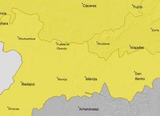 Alerta Amarilla por temperaturas de hasta 38ºC en las Vegas Bajas del Guadiana