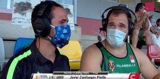 Javier Cienfuegos gana el Trofeo Diputación-Memorial Cansino 2020 con una marca de 72,84 metros