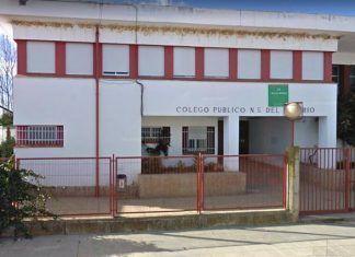 Un aula del CEIP Nuestra Señora del Rosario de Pueblonuevo del Guadiana en cuarentena por Covid-19