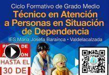 Nuevo plazo de admisión para FP de Técnicos de Atención a Personas en Situación de Dependencia del IES María Josefa Baraínca de Valdelacalzada