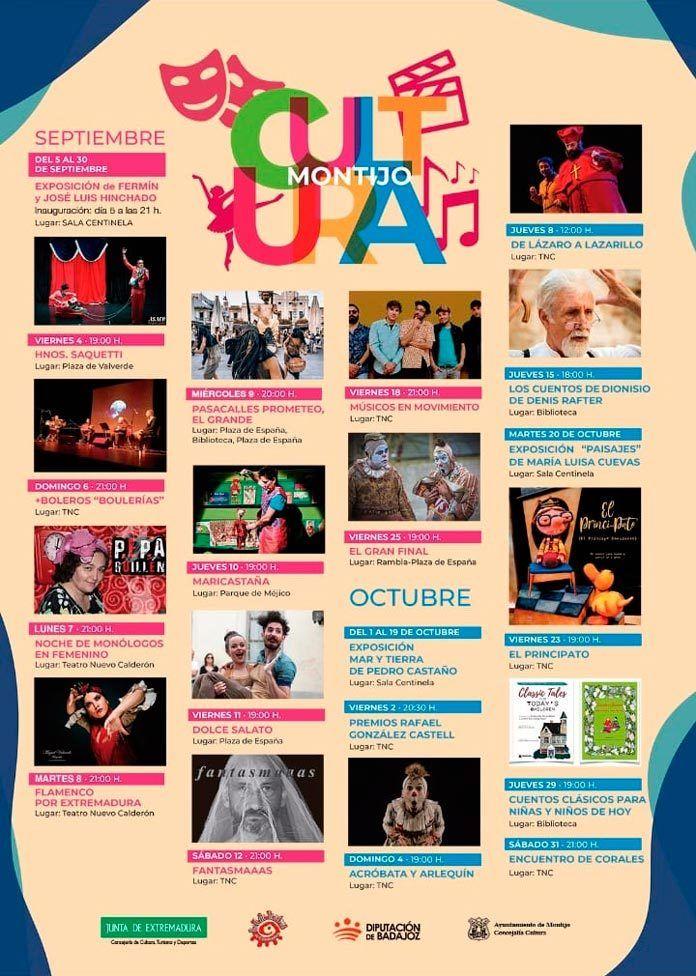 Programación cultural de Montijo en septiembre