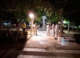 Valdelacalzada retoma los trabajos de desinfección de sus calles