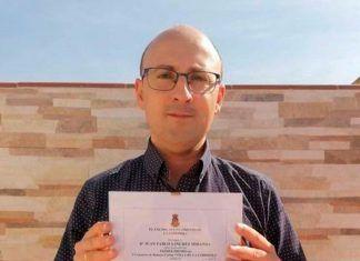 Juan Pablo Sánchez Miranda galardonado con el primer premio en el I Concurso de Relatos Cortos Villa de La Codosera