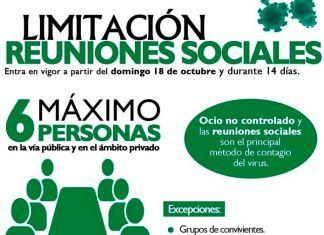 Extremadura limita las reuniones sociales a un máximo de 6 personas