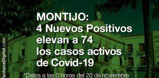 Covid-19 en Montijo: 4 nuevos positivos elevan a 74 los casos activos