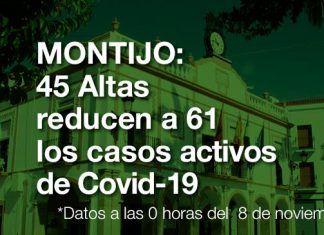 Covid-19 en Montijo: 45 altas reducen a 61 los casos activos
