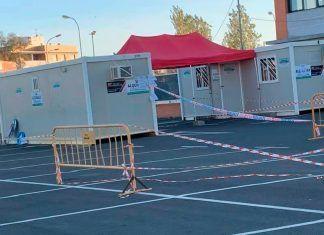 Instalada caseta para pruebas PCR en el centro de Salud-Montijo Puebla