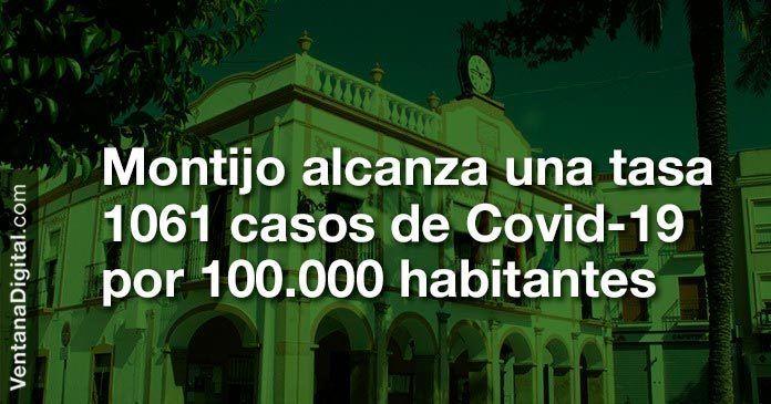 Montijo alcanza una tasa de 1061 casos de Covid-19 por 100.000 habitantes