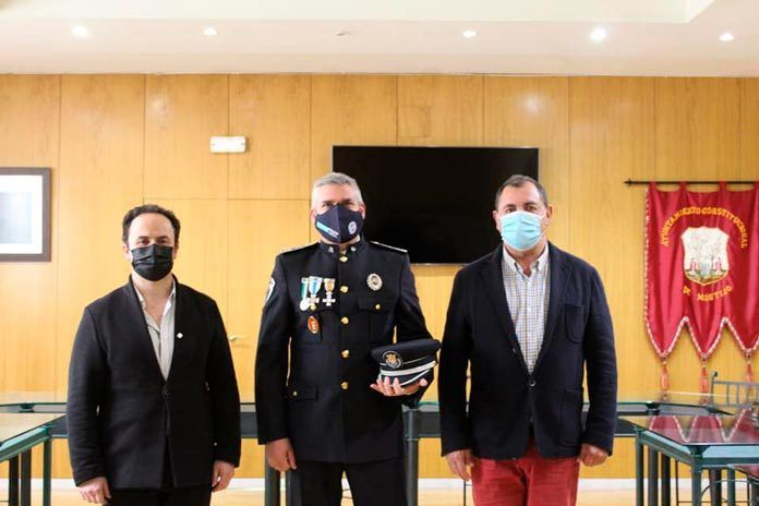 Toma posesión como subinspector de la policía local de Montijo, Jose María cupido