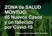 65 Nuevos Positivos y 1 fallecido por Covid en la Zona de Salud de Montijo