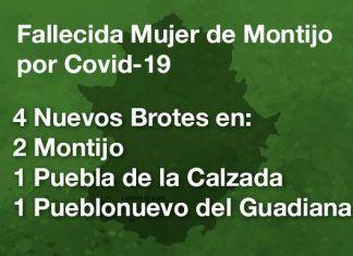Fallece por Covid-19 una montijana y se declaran 4 nuevos brotes en Montijo, Puebla de la Calzada y Pueblonuevo del Guadiana