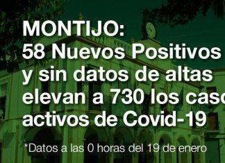 58 Nuevos casos, sin datos de altas, elevan a 730 los casos activos de COVID-19 en Montijo