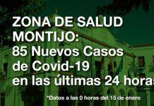 85 nuevos casos positivos de Covid-19 en las últimas 24 horas en la Zona de Salud de Montijo