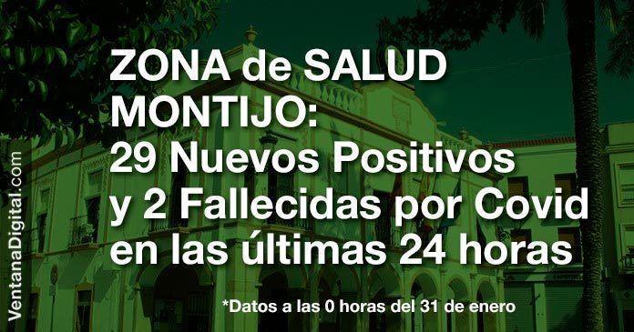 29 Nuevos Positivos y 2 fallecidas por Covid en las últimas 24 horas en la Zona de Salud de Montijo