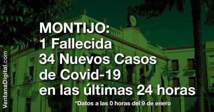 1 fallecida y 34 nuevos casos positivos de Covid-19 en las últimas 24 horas en Montijo