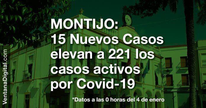 Sin datos de altas, Montijo suma 221 positivos con 15 nuevos casos por Covid-19