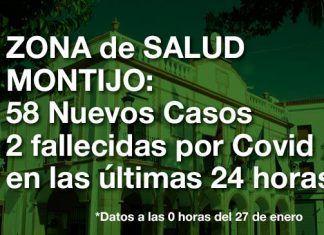 58 Nuevos Positivos y 2 fallecidas por Covid en las últimas 24 horas en la Zona de Salud de Montijo