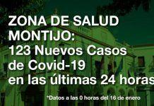 123 nuevos casos positivos de Covid-19 en las últimas 24 horas en la Zona de Salud de Montijo