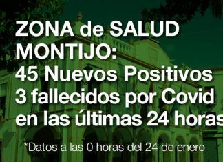 45 Nuevos Positivos y 3 fallecidos por Covid en las últimas 24 horas en la Zona de Salud de Montijo