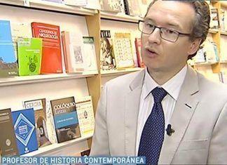 Alfonso Pinilla, profesor de Historia Contemporánea en la Universidad de Extremadura (foto: 24h de TVE).