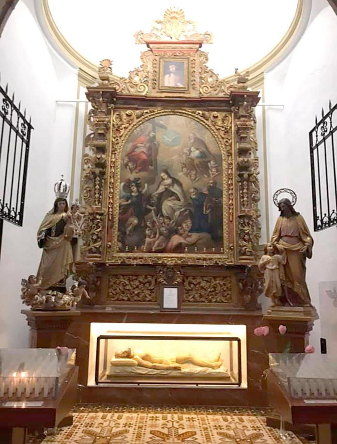 Capilla de la Buena Muerte en el templo parroquial de San Pedro Apóstol de Montijo