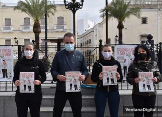 Hosteleros de las Vegas Bajas se concentran en Montijo en defensa del sector
