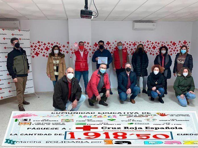 Entregada la recaudación de la III Marcha Solidaria del Día de la Paz destinada a Proyectos Sociales de Cruz Roja Vegas Bajas
