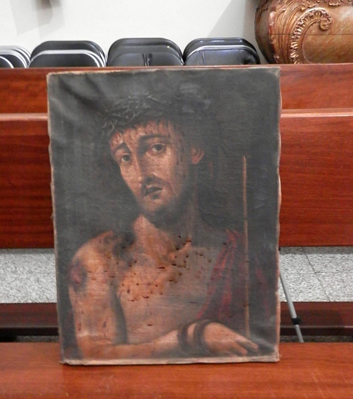 Ecce Homo antes de la restauración.