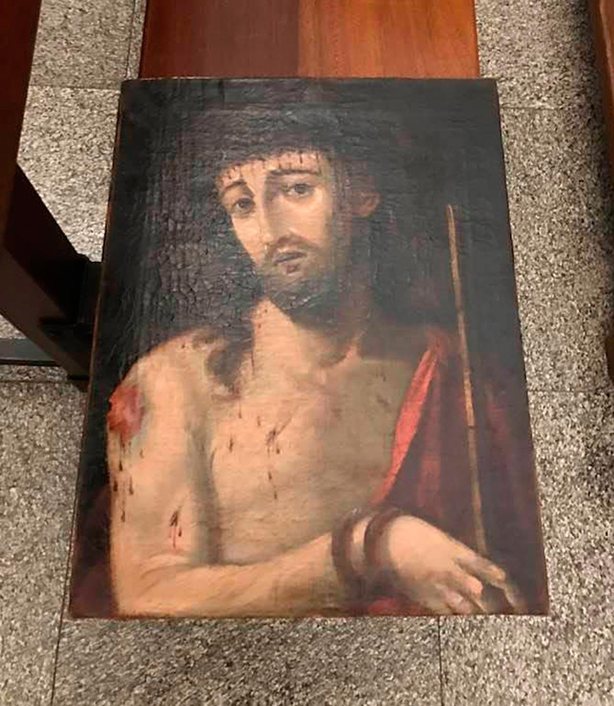 Ecce Homo después de la restauración.