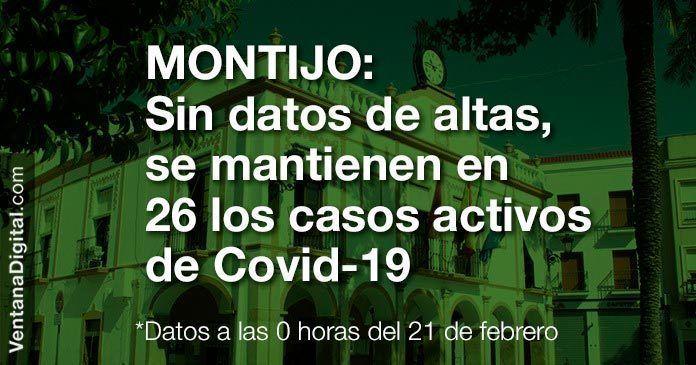 La incidencia acumulada de Covid-19 en Montijo baja a 161,74 casos por 100.000 habitantes