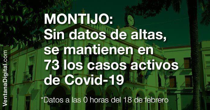 Se mantienen en 73 los casos activos por Covid-19 en Montijo