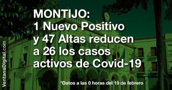 47 Altas reducen a 26 los casos activos de Covid-19 en Montijo