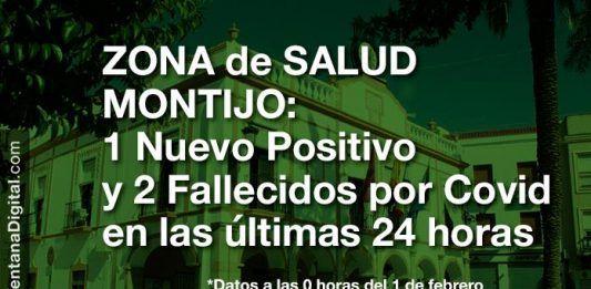 1 Nuevo Positivo y 2 fallecidos por Covid en las últimas 24 horas en la Zona de Salud de Montijo