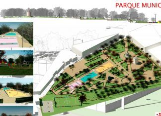 Cerrado el parque municipal de Montijo por reformas y rehabilitación