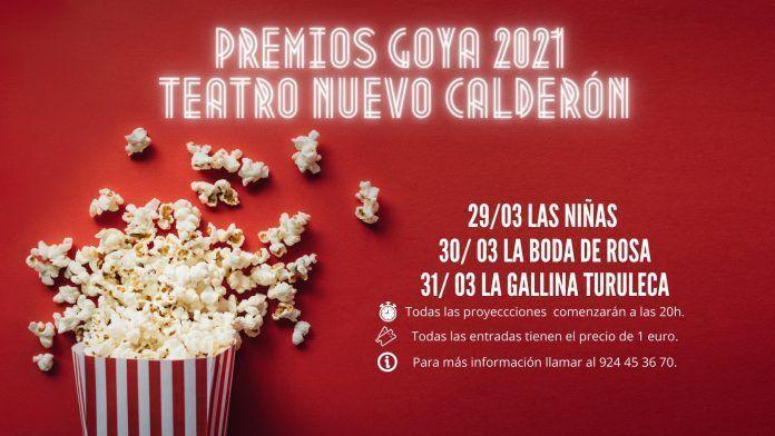 Ciclo de cine especial Premios Goya 2021 en el Teatro Nuevo Calderón de Montijo