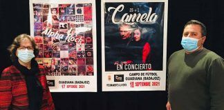 Alpha Rock y Camela en la Feria y Fiestas 2021de Guadiana